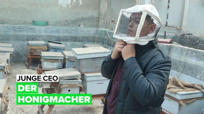 Junge CEO: der Honigmacher